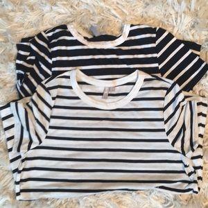 2 ASOS maternity shirts - navy and white EUC